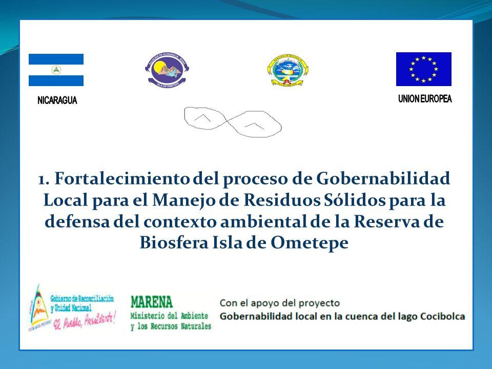 1. Fortalecimiento del proceso de Gobernabilidad Local para el Manejo de Residuos Sólidos para la defensa del contexto ambiental de la Reserva de Bios