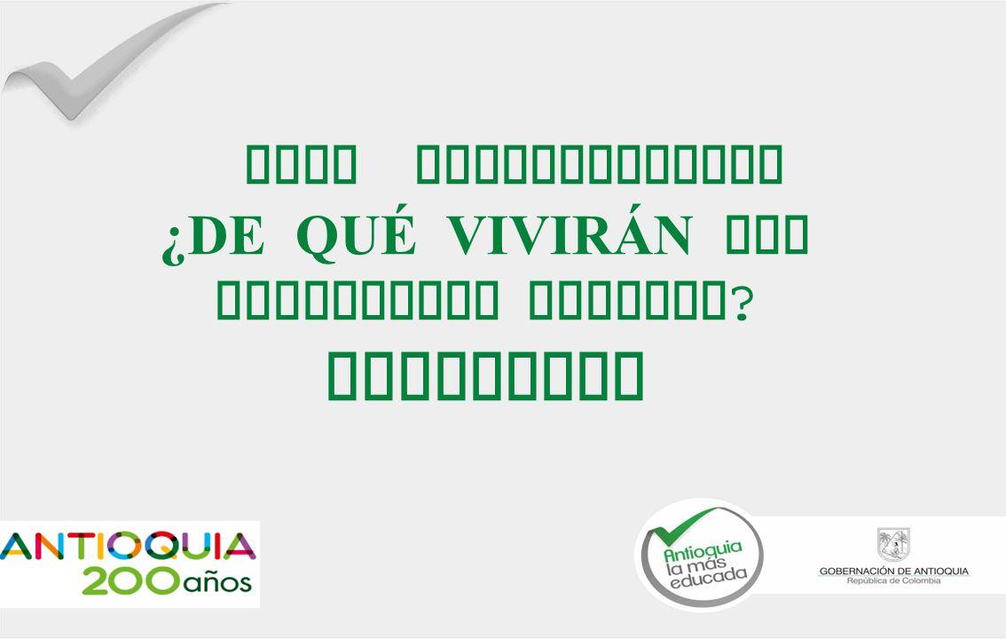 FORO INTERNACIONAL ¿DE QUÉ VIVIRÁN LOS POBLADORES RURALES ? Antioquia