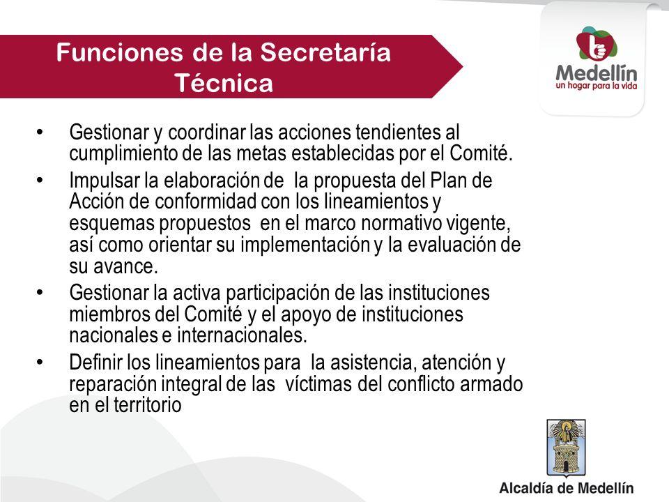Gestionar y coordinar las acciones tendientes al cumplimiento de las metas establecidas por el Comité.