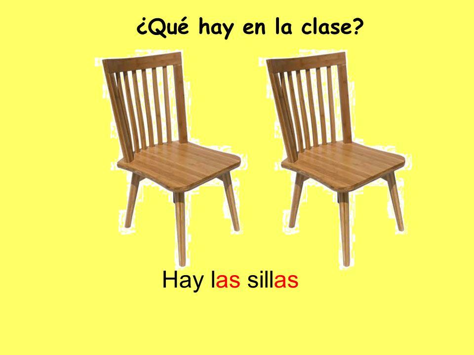 Hay las sillas ¿Qué hay en la clase?