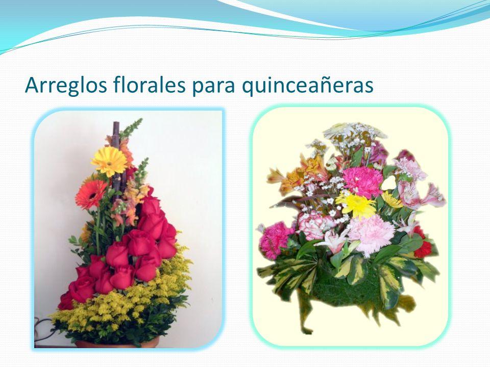 Arreglos florales para quinceañeras