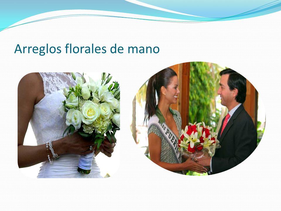 Arreglos florales de mano