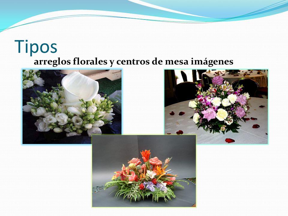 Tipos arreglos florales y centros de mesa imágenes