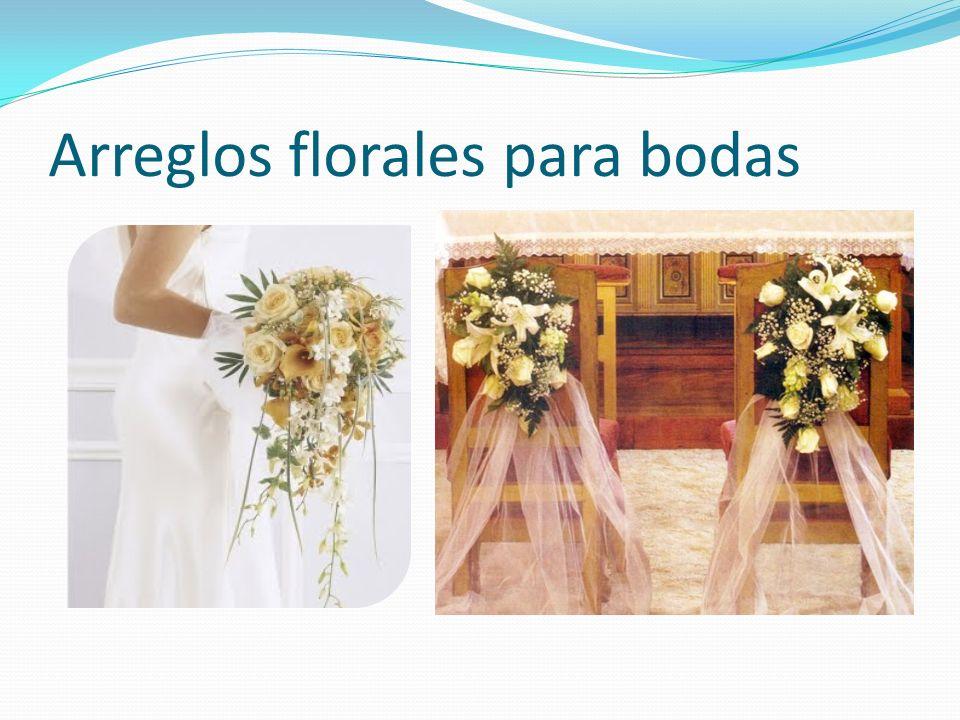 Arreglos florales para bodas