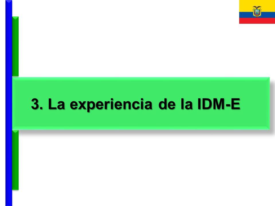 3. La experiencia de la IDM-E