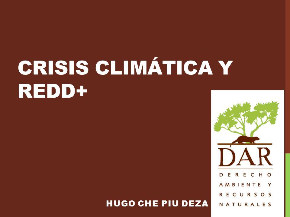 CRISIS CLIMÁTICA Y REDD+ HUGO CHE PIU DEZA