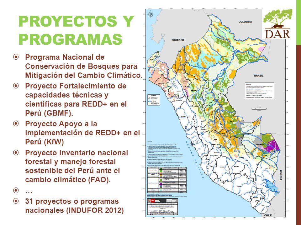 Programa Nacional de Conservación de Bosques para Mitigación del Cambio Climático. Proyecto Fortalecimiento de capacidades técnicas y científicas para