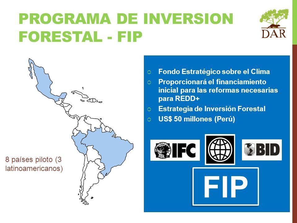 Fondo Estratégico sobre el Clima Proporcionará el financiamiento inicial para las reformas necesarias para REDD+ Estrategia de Inversión Forestal US$