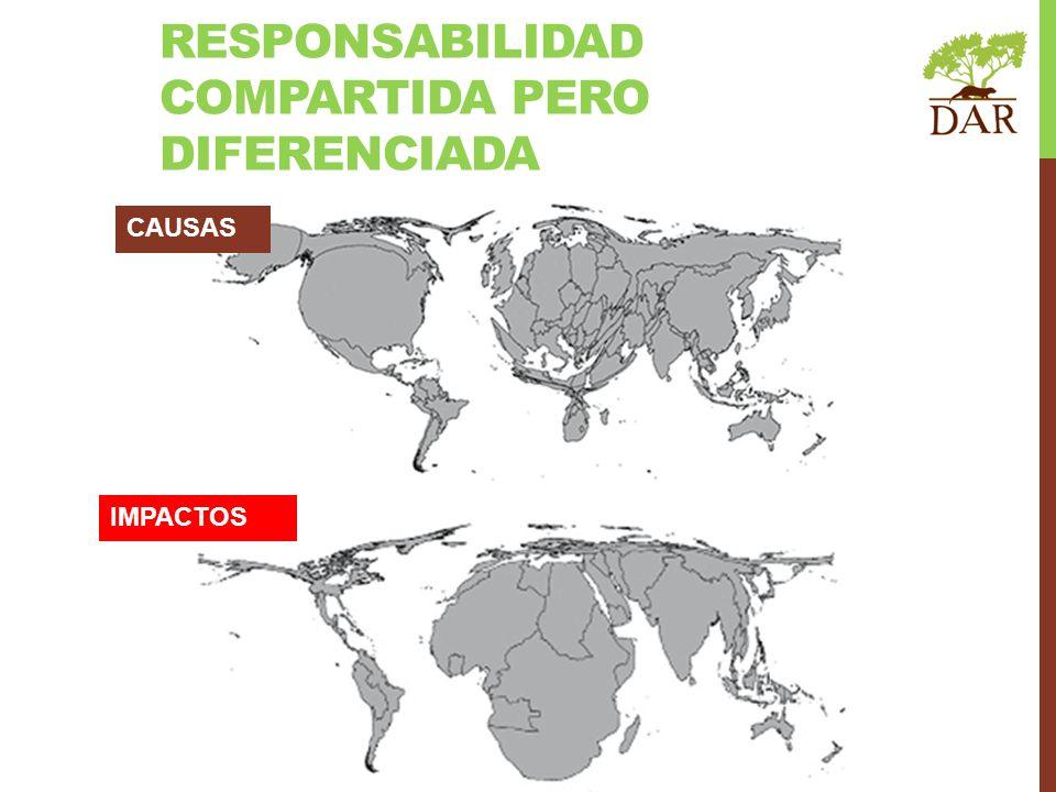 RESPONSABILIDAD COMPARTIDA PERO DIFERENCIADA IMPACTOS CAUSAS