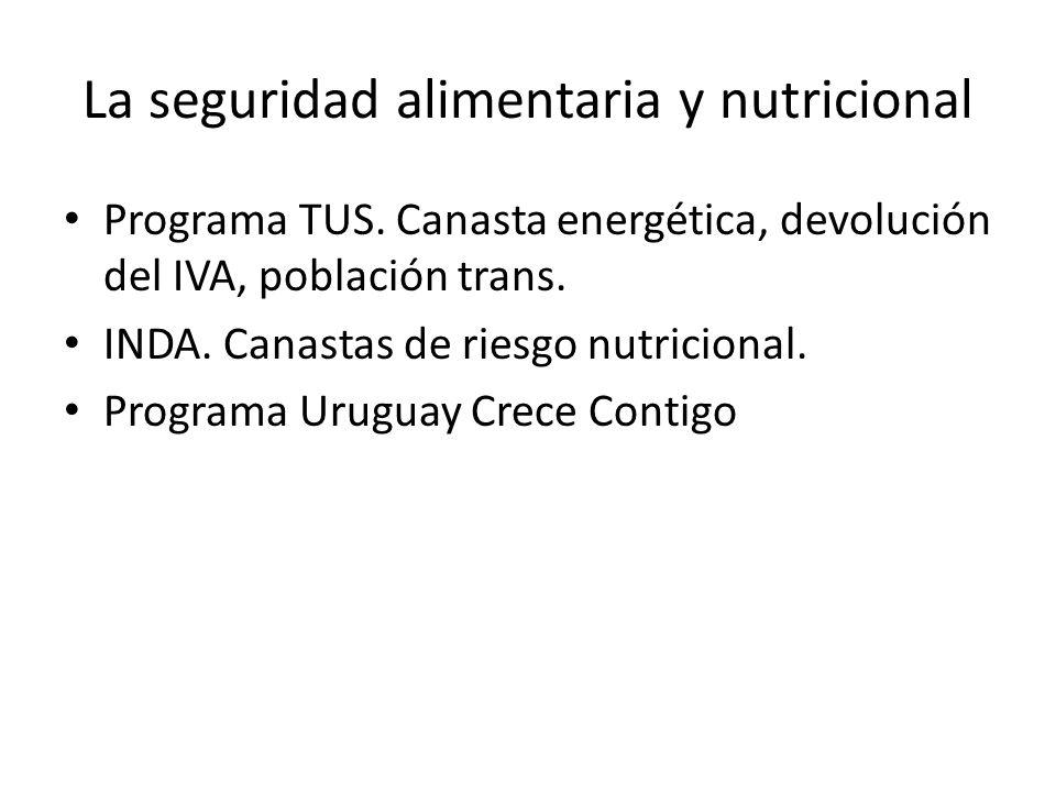 La seguridad alimentaria y nutricional Programa TUS.