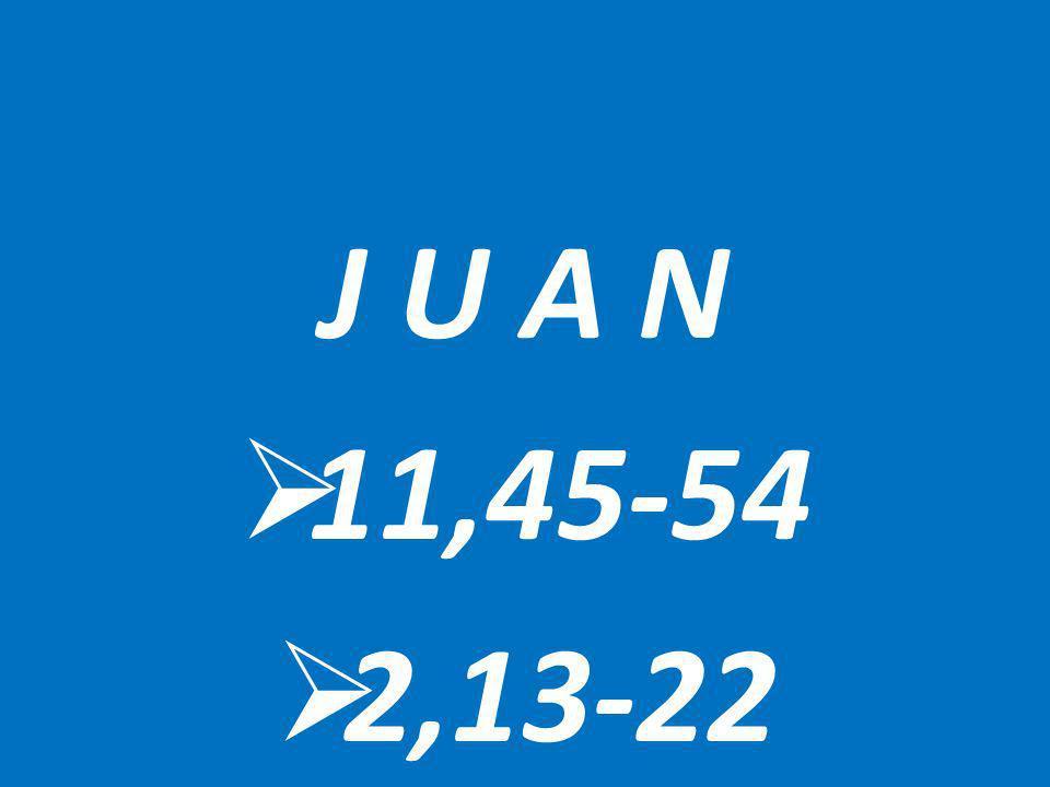J U A N 11,45-54 2,13-22