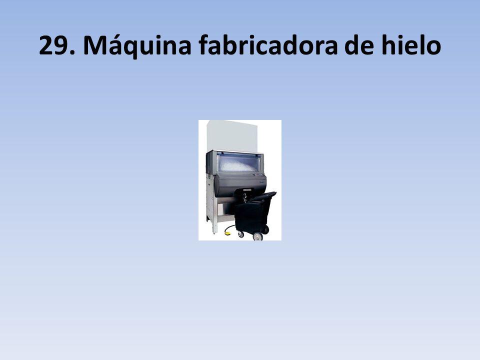 29. Máquina fabricadora de hielo