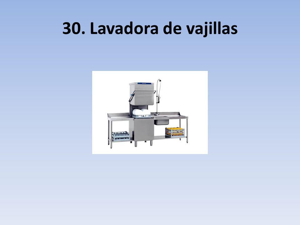 30. Lavadora de vajillas