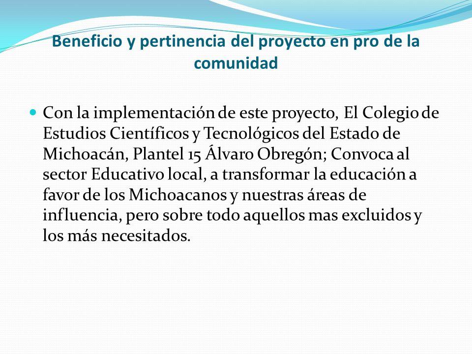 Comunidad en la que se desarrollará el emprendimiento Álvaro Obregón, Mich.