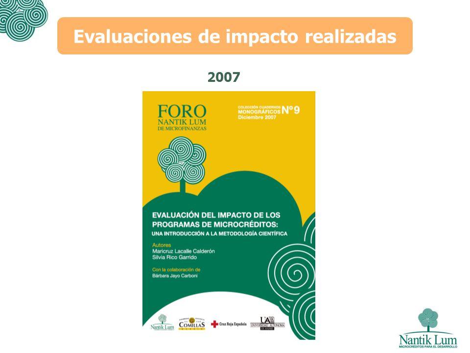 2007 Evaluaciones de impacto realizadas