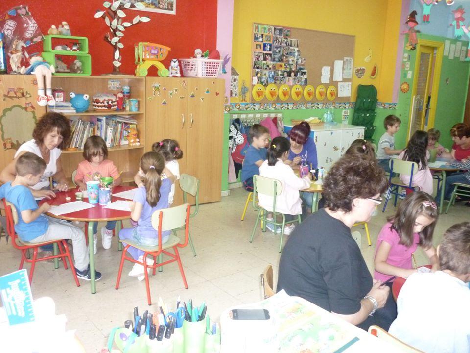 -En mi clase hacemos los grupos interactivos los jueves de 9:30 a 10:45 horas todas las semanas.
