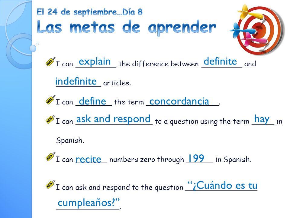 La entrada: La formación de los plurales Change the following nouns (sustantivos) from singular to plural and vice versa.