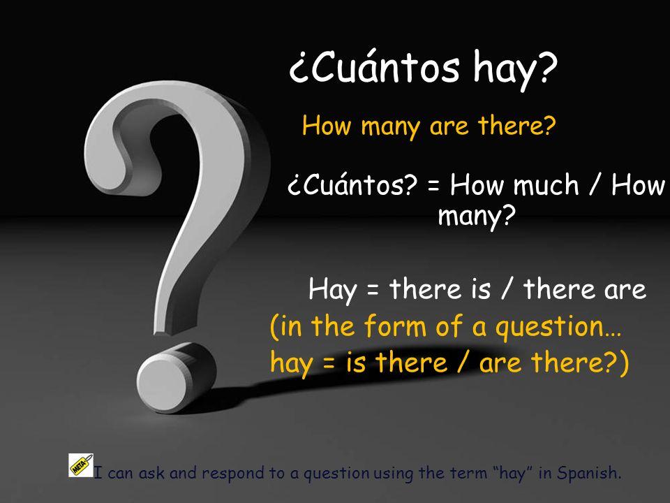 ¿Cuántos profesores hay en la clase de Español? Hay un profesor en la clase.