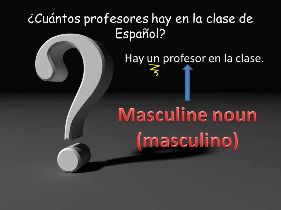¿Cuántas mochilas hay en la clase de Español? Hay treinta y una mochilas en la clase. (más o menos)