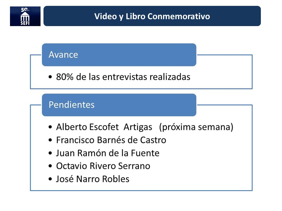 Video y Libro Conmemorativo