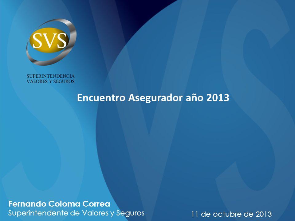 Encuentro Asegurador año 2013 11 de octubre de 2013 Fernando Coloma Correa Superintendente de Valores y Seguros