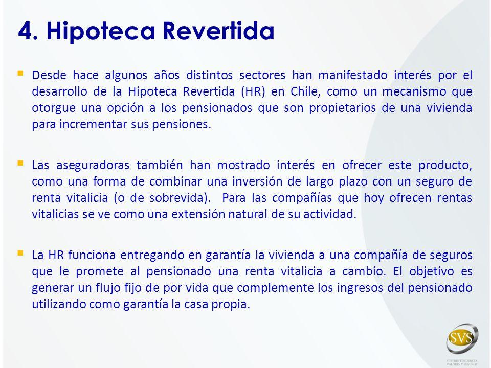 Desde hace algunos años distintos sectores han manifestado interés por el desarrollo de la Hipoteca Revertida (HR) en Chile, como un mecanismo que oto