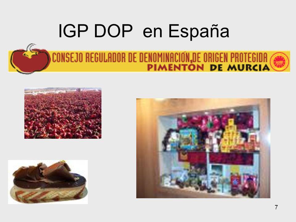 7 IGP DOP en España