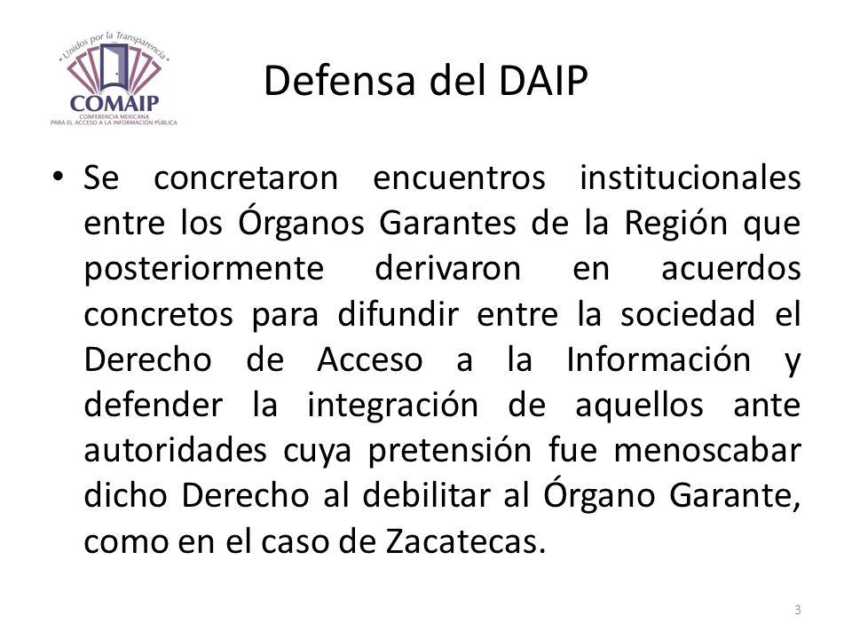 Defensa del DAIP Se concretaron encuentros institucionales entre los Órganos Garantes de la Región que posteriormente derivaron en acuerdos concretos