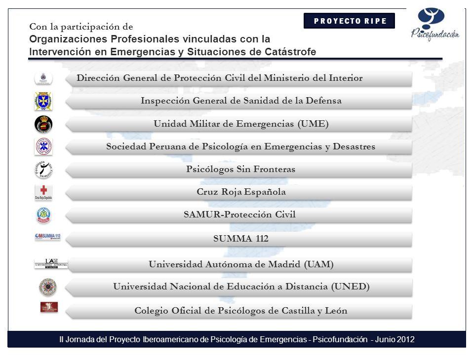 Sociedad Peruana de Psicología en Emergencias y Desastres Dña.