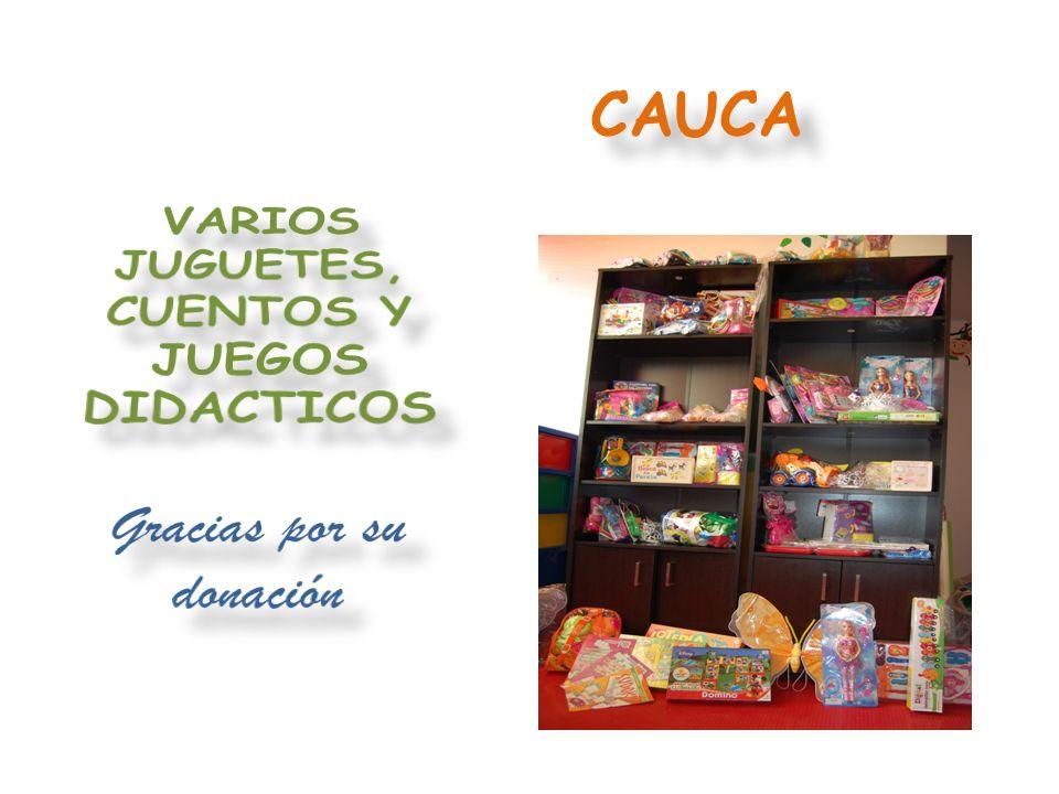 VARIOS JUEGOS DIDÁCTICOS Gracias por su donación BOLÍVAR