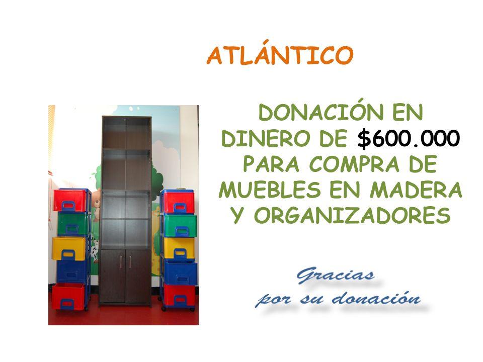 Gracias por su donación QUINDÍO DONACIÓN EN DINERO POR $374.000 PARA COMPRA DE SÁBANAS Y PAÑALES