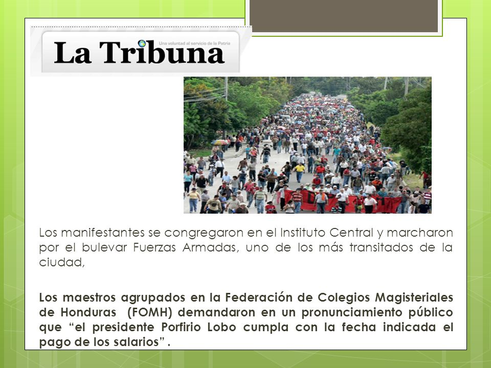Los manifestantes se congregaron en el Instituto Central y marcharon por el bulevar Fuerzas Armadas, uno de los más transitados de la ciudad, Los maes