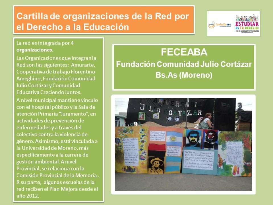 Cartilla de organizaciones de la Red por el Derecho a la Educación La red es integrada por 4 organizaciones.