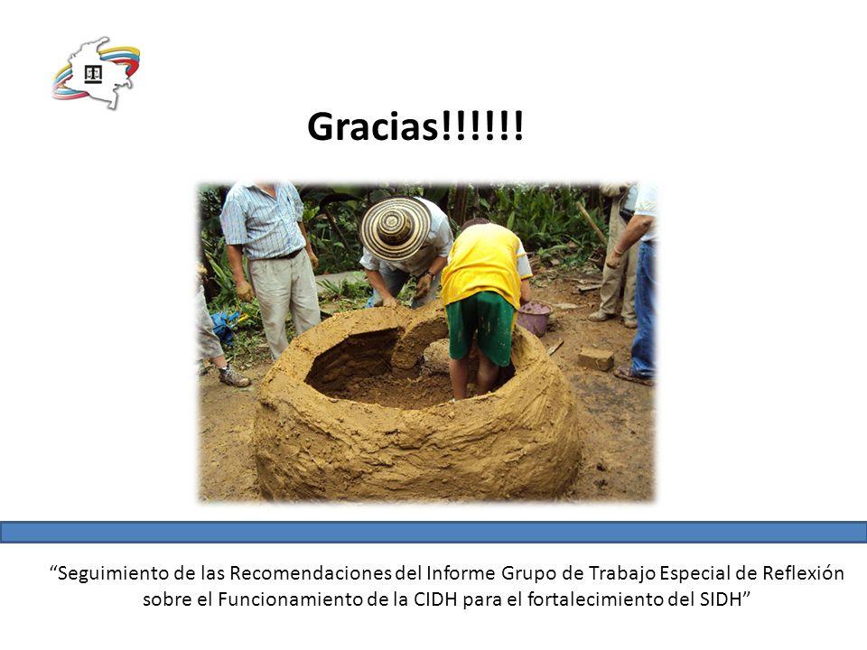 Seguimiento de las Recomendaciones del Informe Grupo de Trabajo Especial de Reflexión sobre el Funcionamiento de la CIDH para el fortalecimiento del SIDH Gracias!!!!!!
