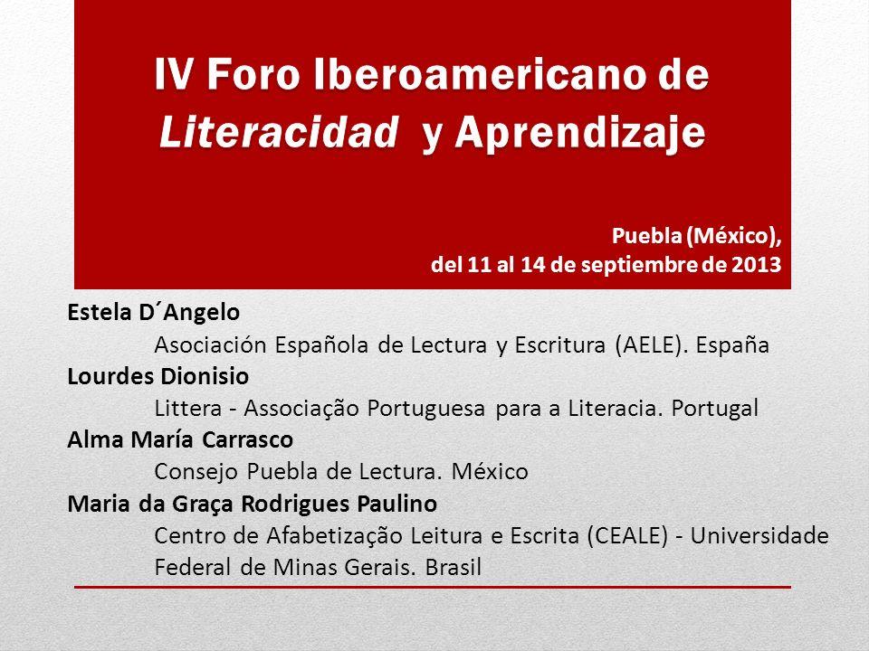 Estela D´Angelo Asociación Española de Lectura y Escritura (AELE).