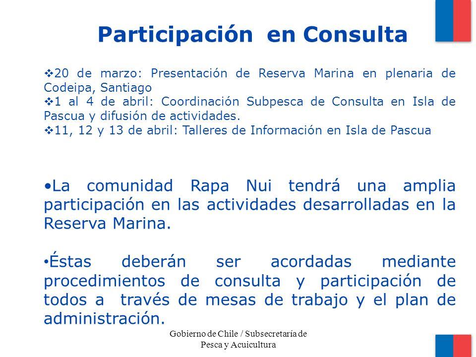 Los invitamos a participar Gobierno de Chile / Subsecretaría de Pesca y Acuicultura