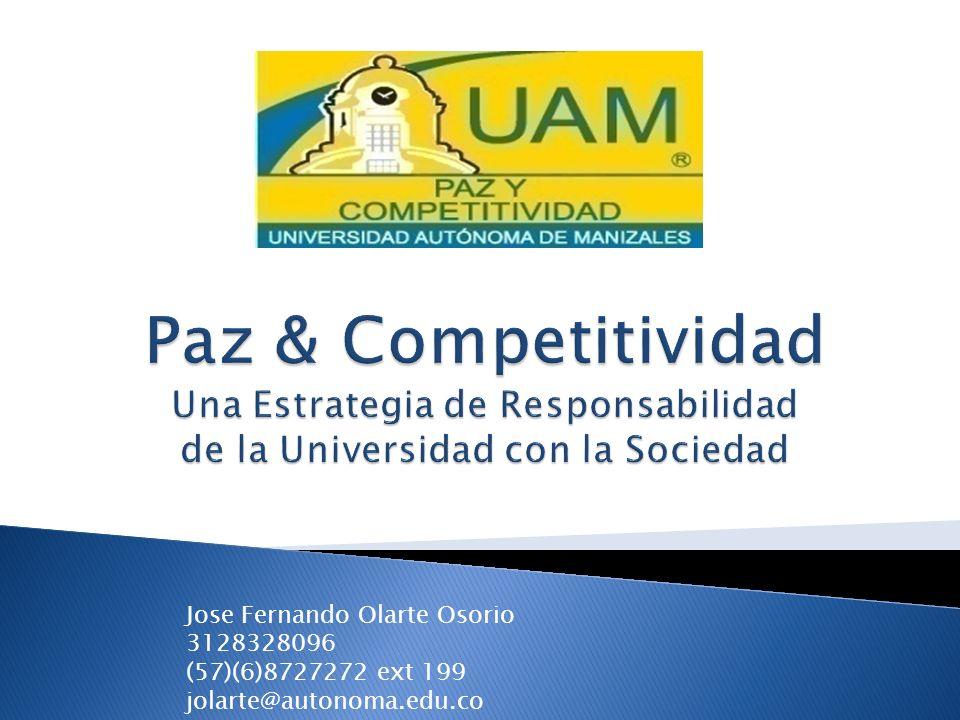 Jose Fernando Olarte Osorio 3128328096 (57)(6)8727272 ext 199 jolarte@autonoma.edu.co