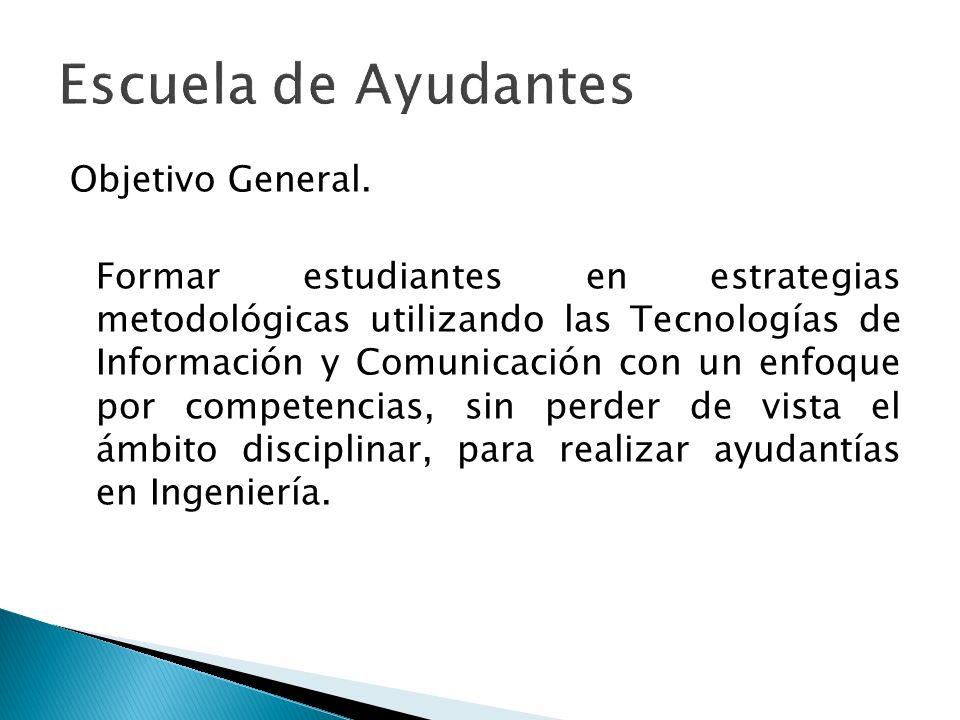 Objetivo General. Formar estudiantes en estrategias metodológicas utilizando las Tecnologías de Información y Comunicación con un enfoque por competen
