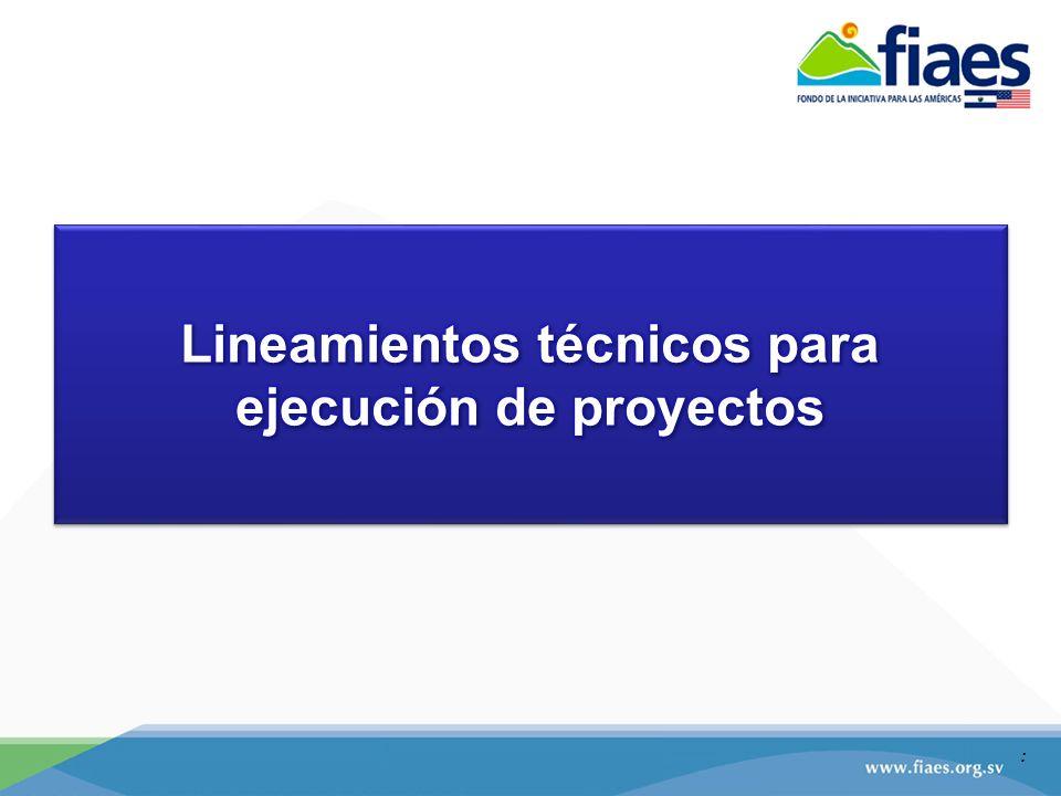 El SEGUIMIENTO TÉCNICO DE PROYECTOS SE REALIZARA: EN OFICINA: Intercambio de correspondencias oficiales entre el FIAES y la ejecutora.