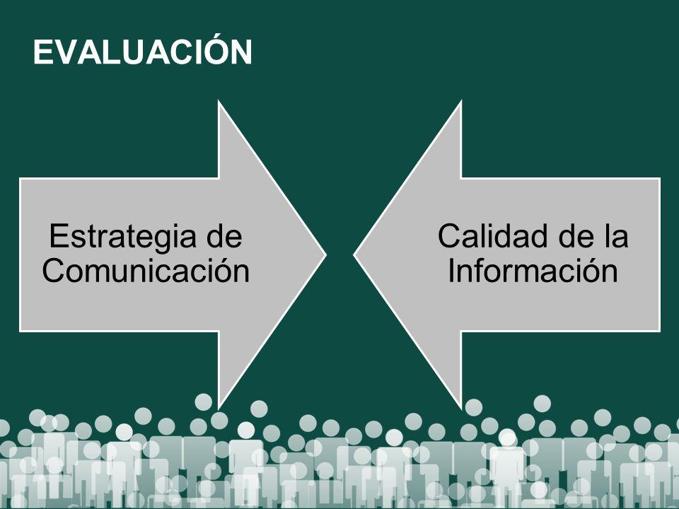 Estrategia de Comunicación Calidad de la Información EVALUACIÓN