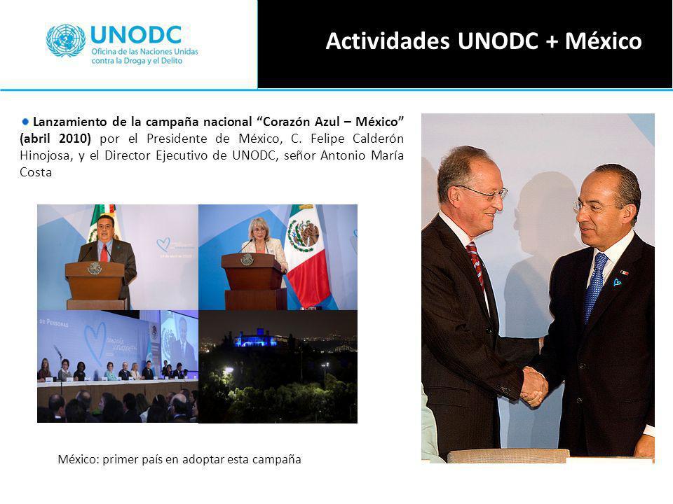 Lanzamiento de la campaña nacional Corazón Azul – México (abril 2010) por el Presidente de México, C.