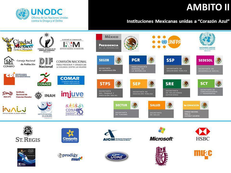 AMBITO II Instituciones Mexicanas unidas a Corazón Azul