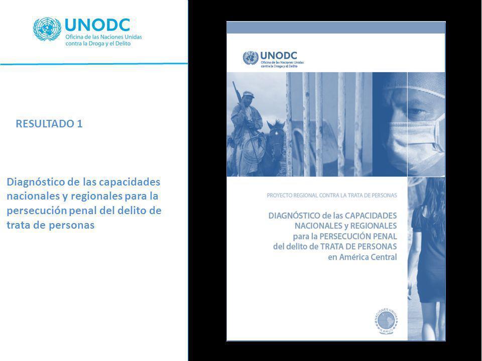 RESULTADO 1 Diagnóstico de las capacidades nacionales y regionales para la persecución penal del delito de trata de personas