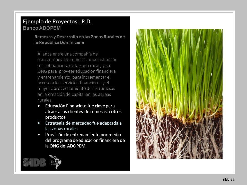 Slide 23 Ejemplo de Proyectos: R.D.