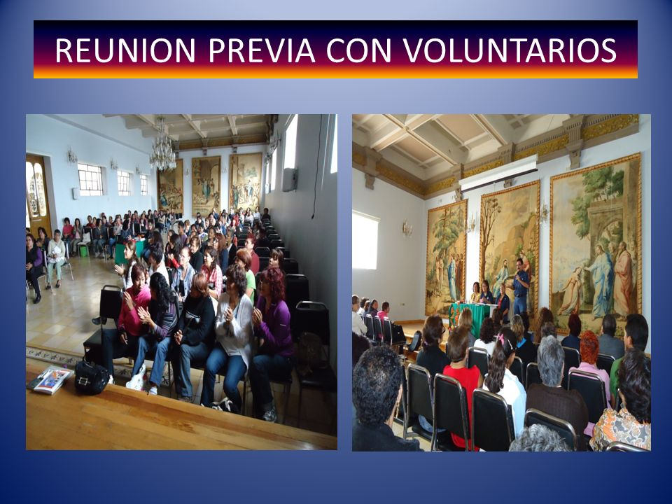 REUNION PREVIA CON VOLUNTARIOS