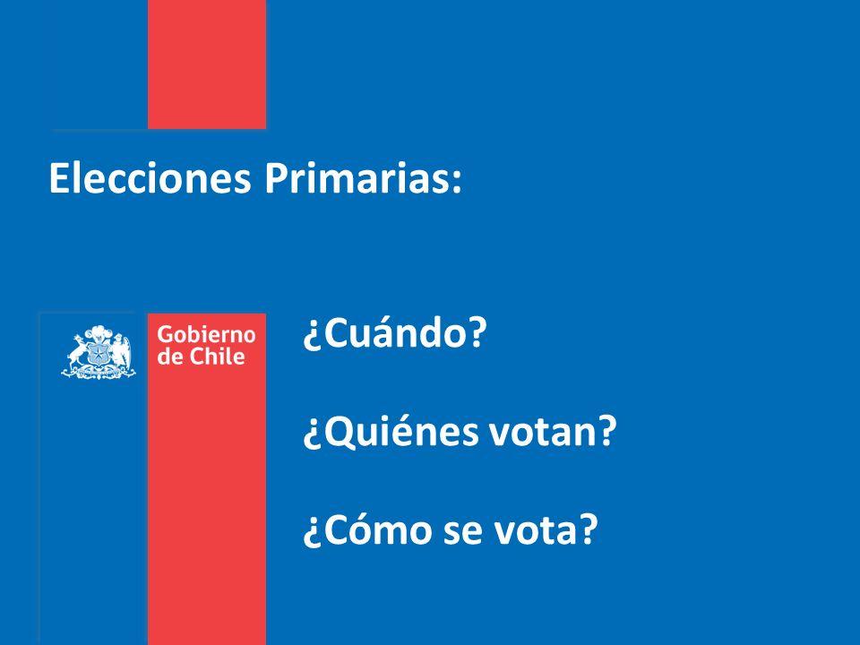Elecciones Primarias: ¿Cuándo? ¿Quiénes votan? ¿Cómo se vota?