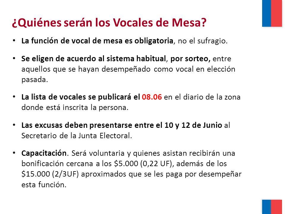 La función de vocal de mesa es obligatoria, no el sufragio.