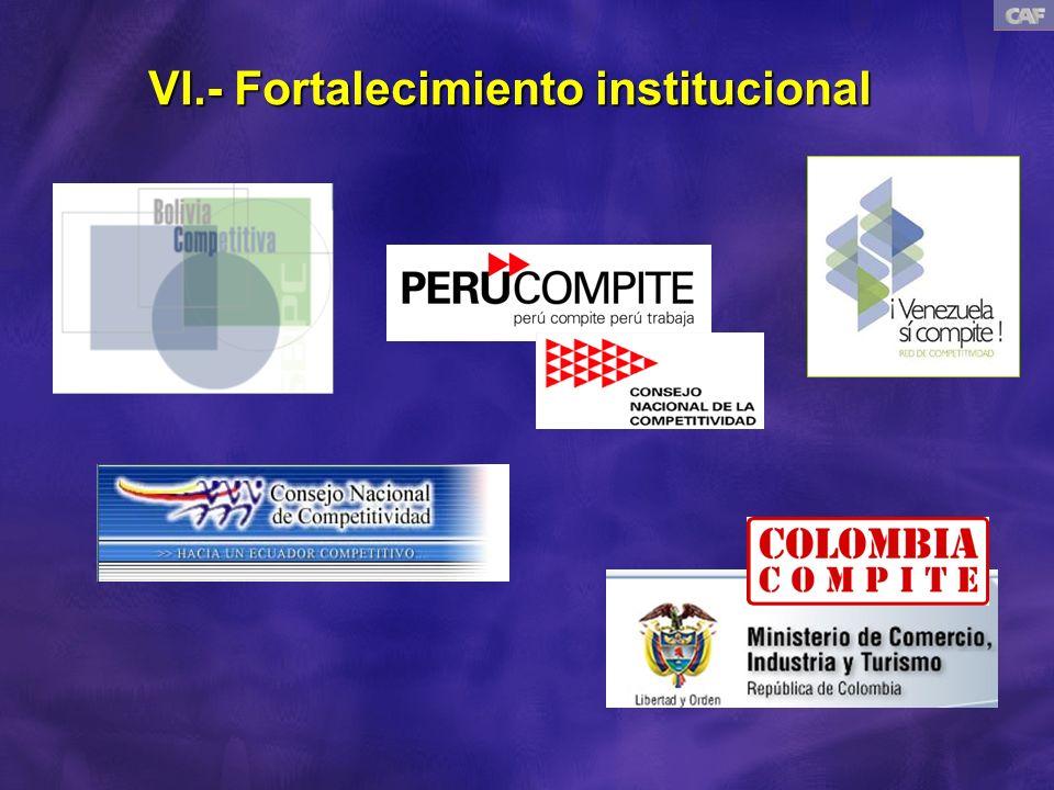 VI.- Fortalecimiento institucional