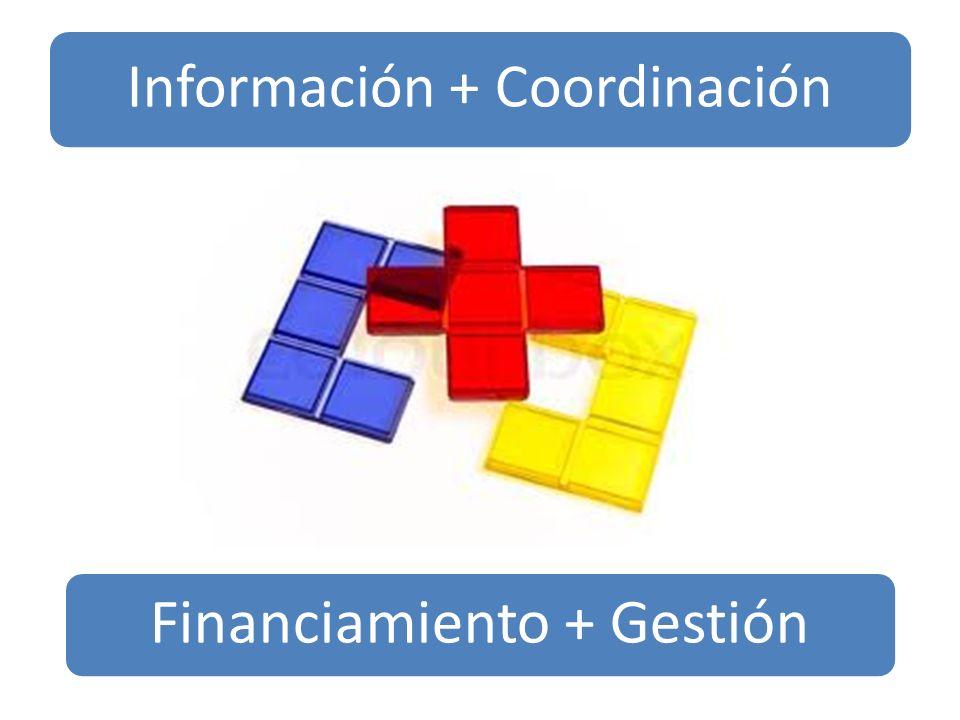 Información + Coordinación Financiamiento + Gestión