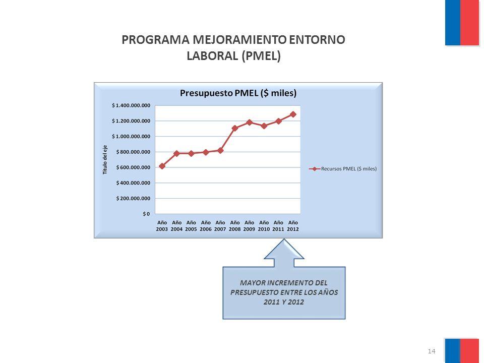 15 PRESUPUESTOS AUTORIZADOS PARA LOS SERVICIOS DE BIENESTAR, PERÍODO 2003 2011